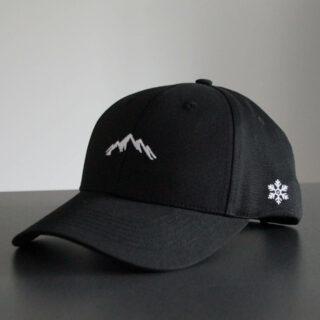 Basecap schwarz Berge